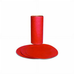 3M Company Red Abrasive PSA Disc, 5 in, P220 A Weight, 100 discs per roll