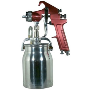 Astro Pneumatic 1.8mm Red Spray Gun With Cup