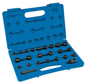 Grey Pneumatic 24-Piece 3/8 in. Drive 6-Point SAE and Metric Magnetic Impact Socket Set