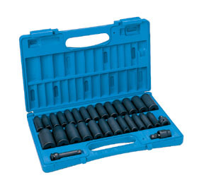 Grey Pneumatic 29-Piece 3/8 in. Drive 6-Point SAE and Metric Deep Impact Socket Set