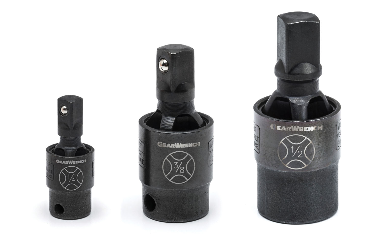 GearWrench 3 Pc. X-Core™ Pinless Impact Universal Joint Set