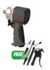 "AIRCAT 1/2"" Composite Compact Impact Wrench w/FREE 6 Pc. Blow Gun Kit"