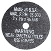 "AES Industries 3"" Cut-Off Wheels - 3"" x 1/16"" x 3/8"", 5 Pack"