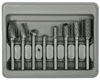 "Astro Pneumatic 8 Piece Double Cut Carbide     Rotarty Burr Set with 1/4"" Shank"