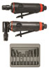Astro Pneumatic ONYX 3 Pc. Die Grinder Kit with 8 Pc. Double Cut Carbide Rotary Burr Set