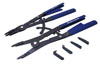 """Astro Pneumatic 2 Pc. Large  16"""" Ratcheting  Snap Ring Pliers with  Replaceable Tips"""