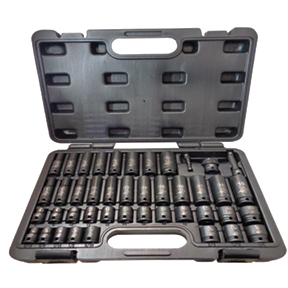 """ATD Tools 43 Pc. 3/8"""" Drive 6 Point SAE and Metric Standard and Deep Impact Socket Set"""