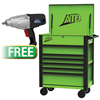 "ATD Tools 35"" 6-Drawer Deluxe Service Cart W/FREE 1/2"" DRElectric Impact WR"