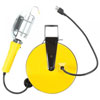 Bayco Products Incandescent Work Light w/ Metal Guard & Single Outlet on 40ft Metal Reel