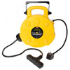 Bayco Products 50ft Retractable Polymer Cord Reel w/ 4 Outlets, 15amp