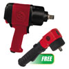 """Chicago Pneumatic 3/4"""" Impact Wrench with Ring Retainer & Twin Hammer Clutch w/ PROMO 3/8"""" Angle Impact Wrench"""