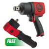 """Chicago Pneumatic 1"""" Composite Impact Wrench w/ PROMO 3/8"""" Angle Impact Wrench"""