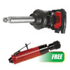 """Chicago Pneumatic 1"""" Torque Limited Air Impact Wrench w/ PROMO Low Speed Tire Buffer"""