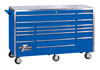 "Extreme Tools 72"" Roller Cabinet, Blue"