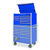 "Extreme Tools 41"" RX Series 8-Drawer Top Chest, Blue"