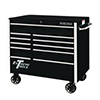 "Extreme Tools 41"" RX Series 11-Drawer Roller Cabinet, Black"
