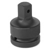 """Grey Pneumatic 1"""" Drive Female x 1-1/2"""" Male Adapter with Pin Hole"""