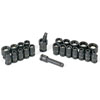Grey Pneumatic 23-Piece 1/4 in. Drive 6-Point SAE and Metric Magnetic Impact Socket Set