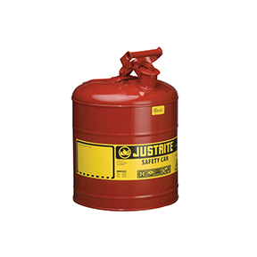 Justrite Manufacturing Company 5 Gallon Type 1 Red Safety Can