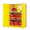 Justrite Manufacturing Company 90 Gallonss Yellow Safety Cabinets for Flammables