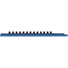 """GearWrench 1/4"""" Drive 9"""" Blue Socket Rail Includes 13 Clips"""