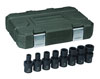 """GearWrench 8 Pc. 3/8"""" Drive 6 Point SAE Universal Impact Socket Set"""
