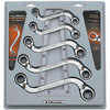 GearWrench 5 pc. Metric S-Shape Reversible Ratcheting Wrench Set