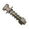 """Mo-Clamp 1/2"""" x 2 1/2"""" Nut, Bolt, Washer & Spring for 0305 & 0405"""