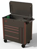 Mechanic's Time Savers 42IN 4 Drawer Service Cart, Black & Bronze