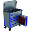 Mechanic's Time Savers 42IN 4 Drawer Service Cart, Grey/Blue