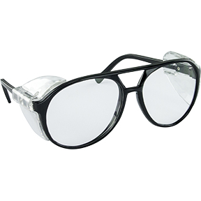SAS Safety Black Frame Classic Style™ with Clear Lens