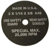 S & G Tool Aid Pack of 5 Cut Off Wheels
