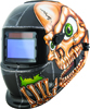 Titan Solar Powered Auto Dark Skull Wrecker Welding Helmet