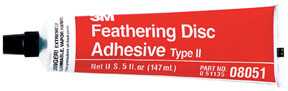 3M Company Feathering Disc Adhesive (Type 2) 08051, 5 oz Tube