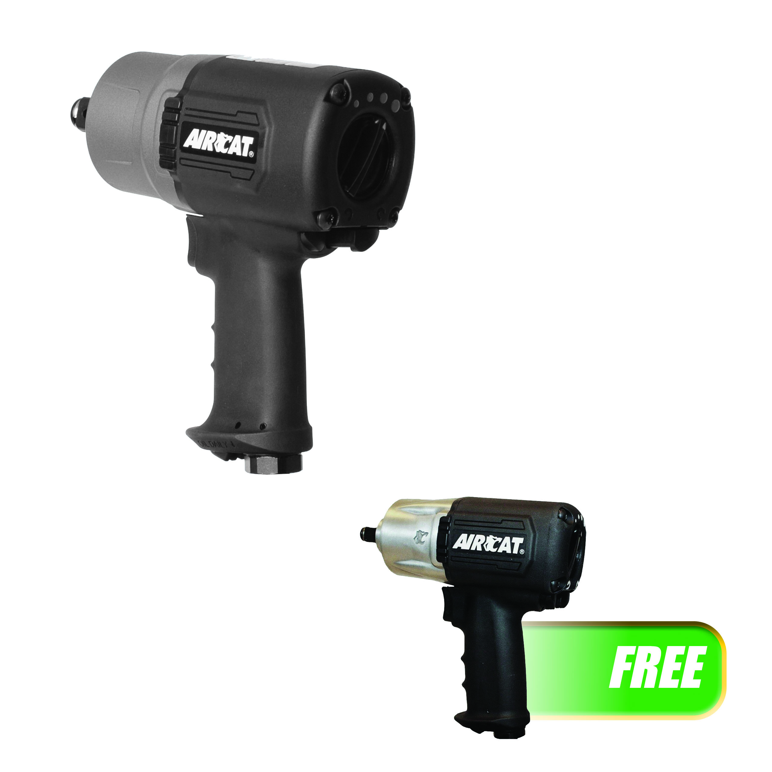 """AIRCAT 3/4"""" """"Super Duty"""" Impact Wrench W/FREE 1/2 IN Impact Wrench"""