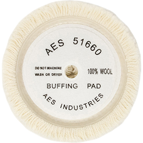 """AES Industries Wool Soup Bowl Buffing Pad - 7"""""""