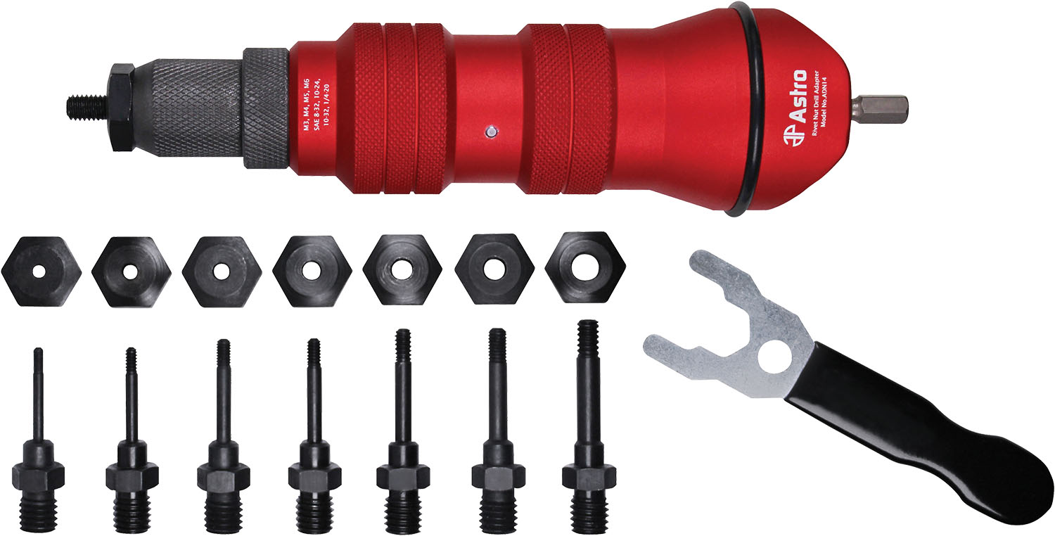 Astro Pneumatic Rivet Nut Drill Adpater Kit