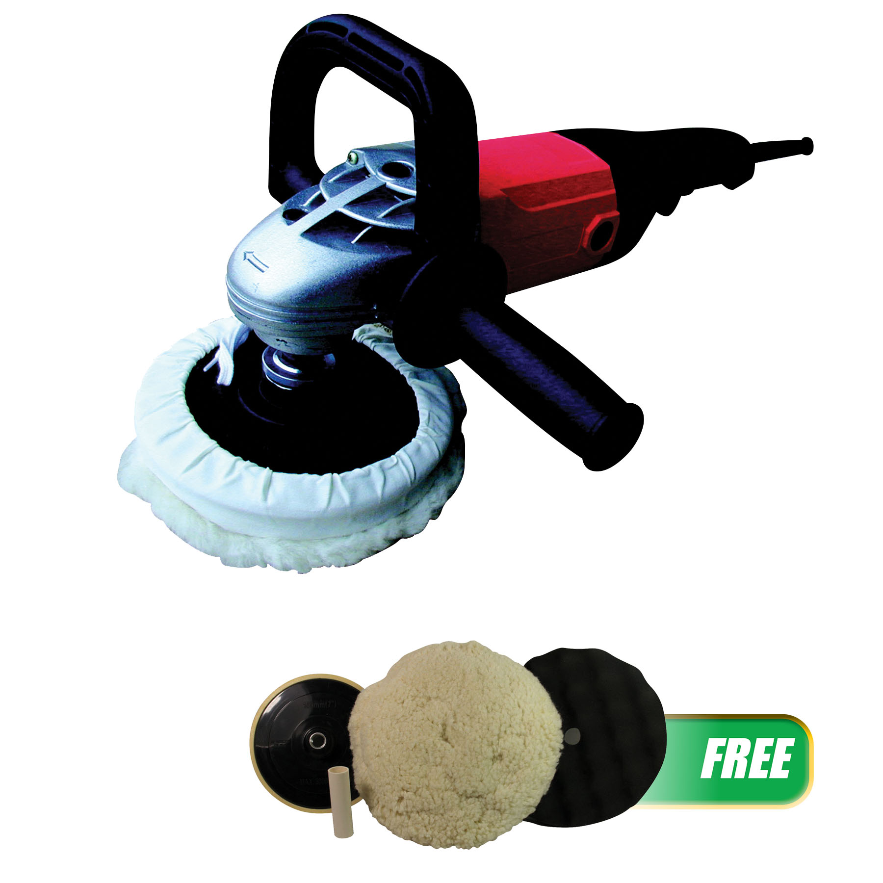 """ATD Tools 7"""" Shop Polisher with Soft Start with FREE Pad Kit"""