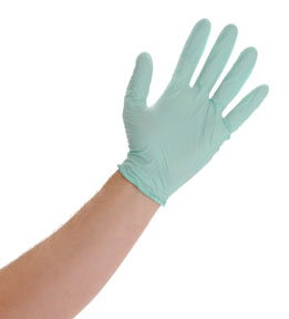 Atlantic Safety Products Aloe Power™ Powder Free  Nitrile Gloves, Large