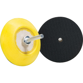 "Buff and Shine Pad Backing Plate 3"" Velcro 5/15""-24 And Adapter"