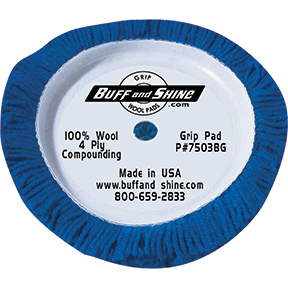 Buff and Shine Compounding Grip Buffing Pad, Blue