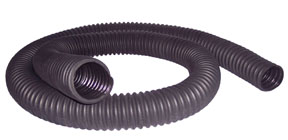 "Crushproof 2.5"" ID x 11' Compact Car Exhaust Hose with Flared End"
