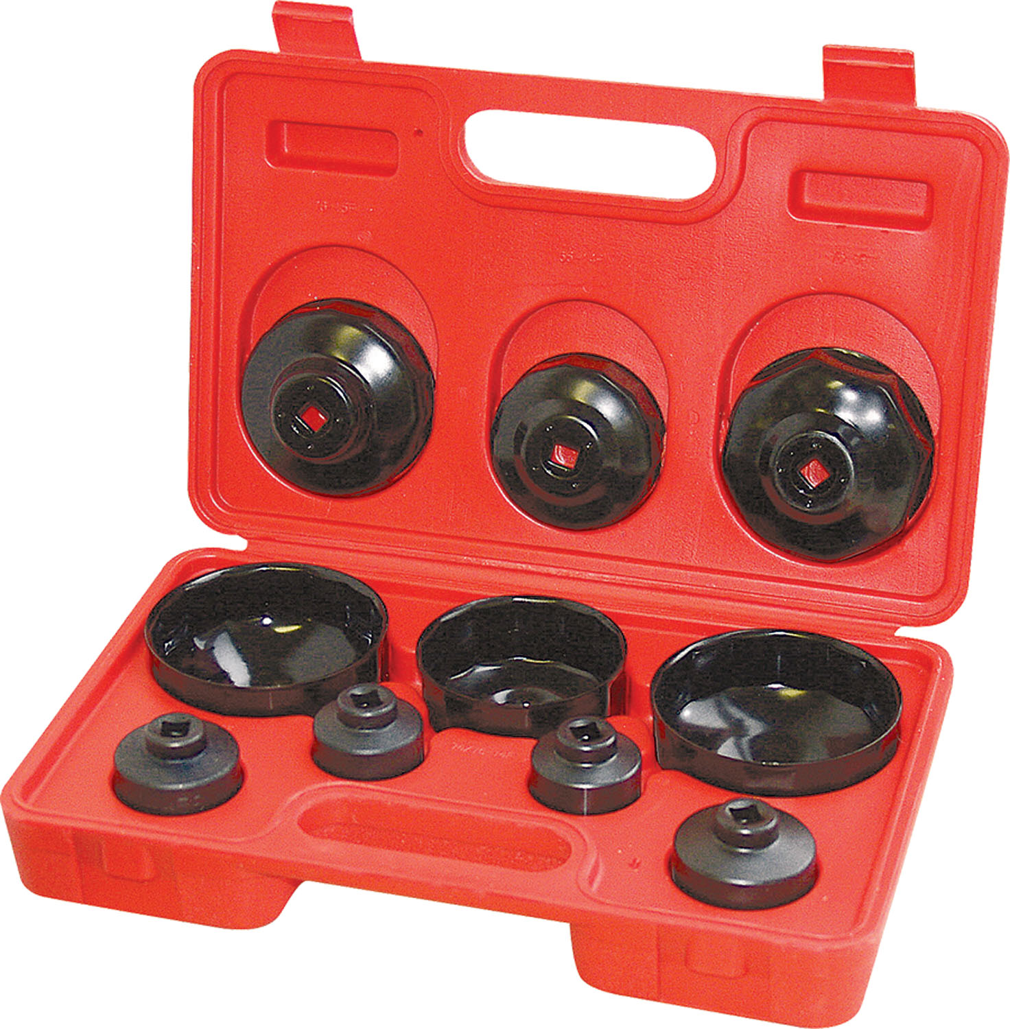 CTA Manufacturing Corporation 10 Piece Cup Type  Oil Filter Wrench Set