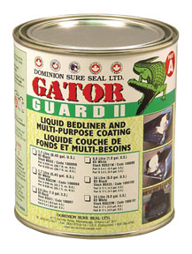 Dominion Sure Seal Gator Guard II Epoxy Liquid Bedliner Kit - Black, 1.7L