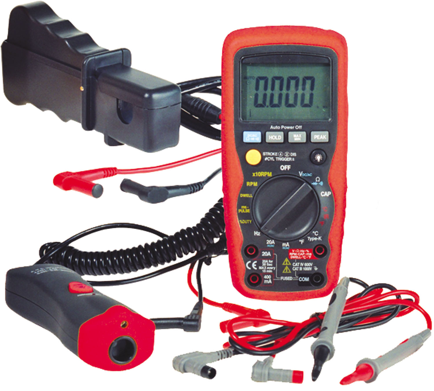 Electronic Specialties Premium Automotive Digital Multimeter with Infrared Temperature Adapter Kit