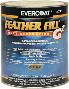 Fibre-Glass Evercoat FeatherFill® G2™, Gray, 1-Gallon