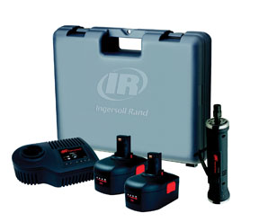 Ingersoll Rand 14.4V Straight Die Grinder Kit with two (2) Li-Ion battery, charger and case