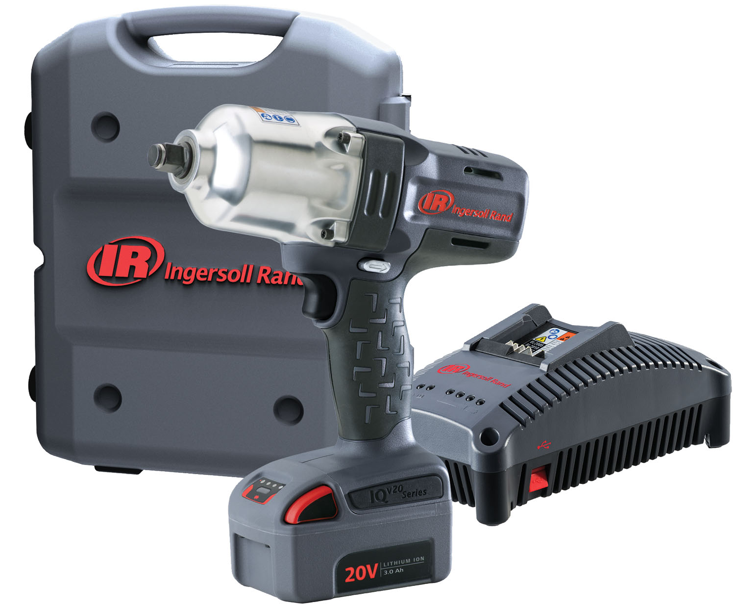 """Ingersoll Rand 1/2"""" Cordless Impact Wrench Standard Anvil One Battery Kit"""