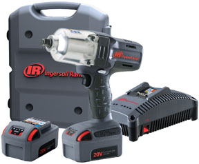 """Ingersoll Rand 1/2"""" Cordless Impact Wrench Standard Anvil Two Battery Kit"""