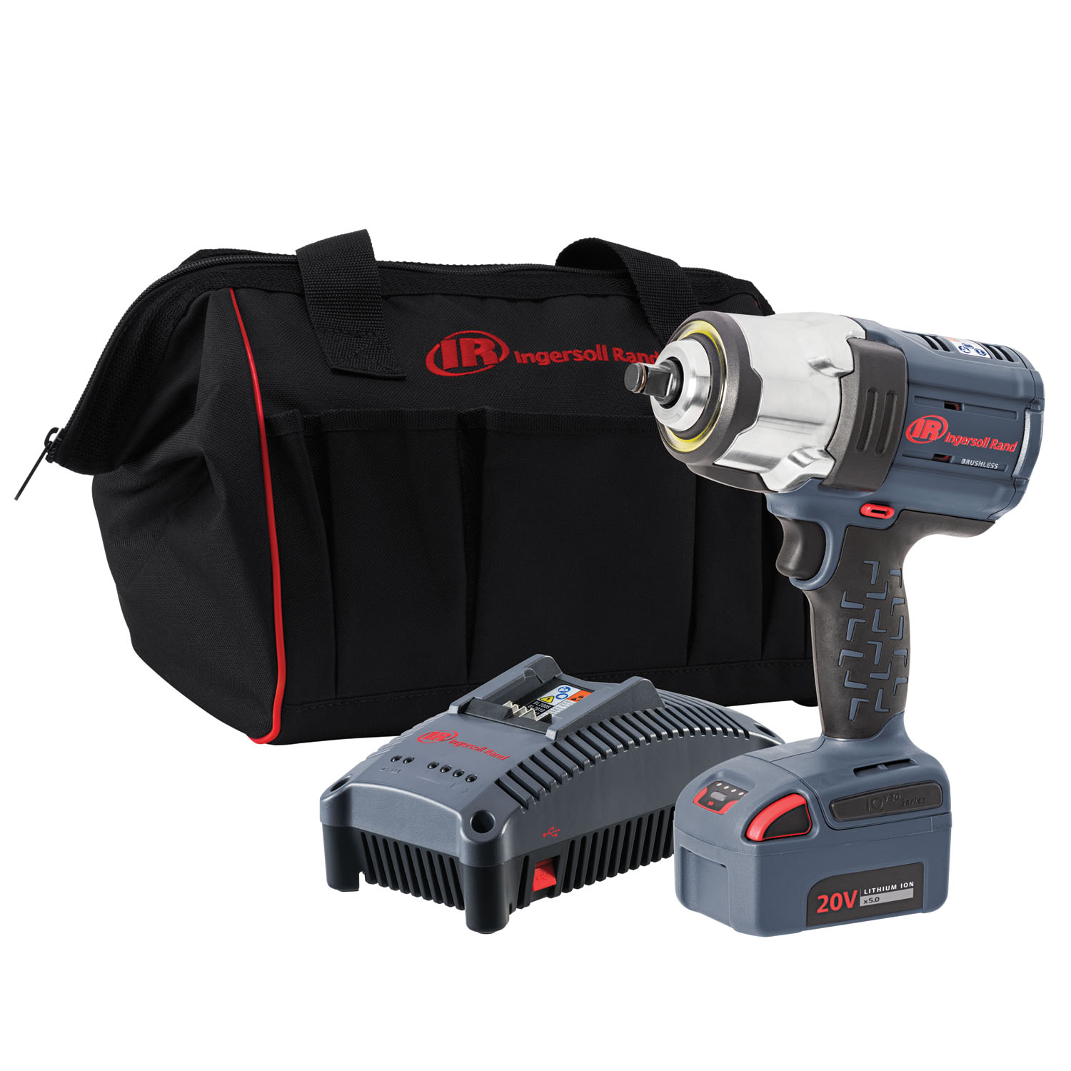 Ingersoll Rand ½½ IQV20 Impact Wrench, 1 Battery Kit